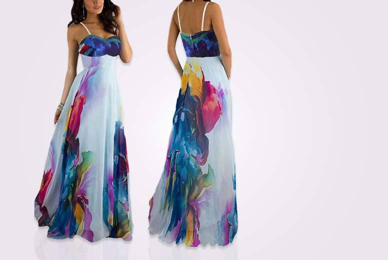 £14 instead of £49.99 (from EFMall) for a floral print maxi dress - take your summer look to great lengths and save 72%