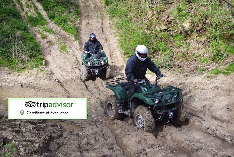 £39 instead of £75 for a one-hour quad biking experience for one person, or £69 for two people at True Grip Off Road - save up to 48%