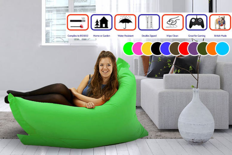 Indoor & Outdoor Big Brother Beanbag - 2 Sizes & 11 Colours!
