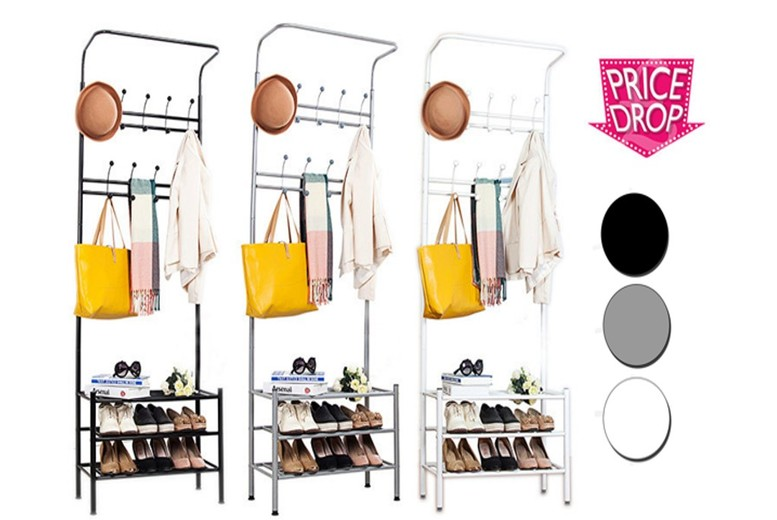 Coat Stand with Shoe Storage Rack