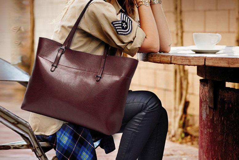 Leather Shoulder Bag- 4 Colours! for £29.00