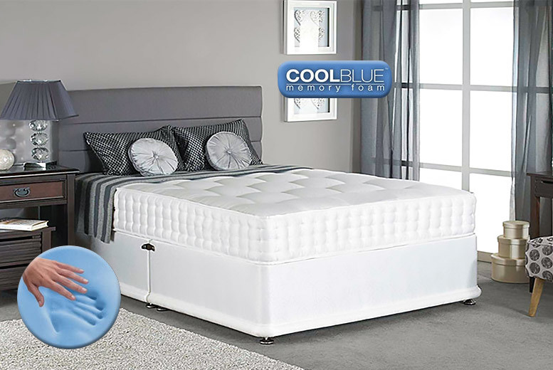 From £69 for a luxury Cool Fusion memory sprung mattress - choose single, double or king and save up to 83%