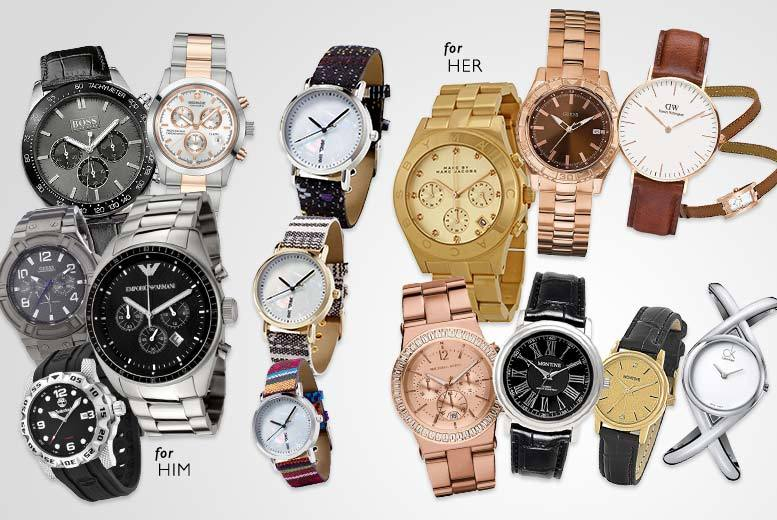 £10 for a mystery watch for him or her - brands include Daniel Wellington, Armani, Guess, Michael Kors, Montine, Swiss Military, Hugo Boss, Timberland and more!
