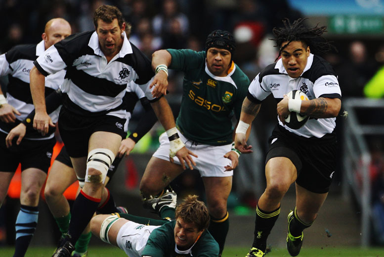 £20 for a concession ticket to see the Barbarians vs South Africa rugby match at Wembley Stadium on 5th Nov, £29 for an adult category C ticket