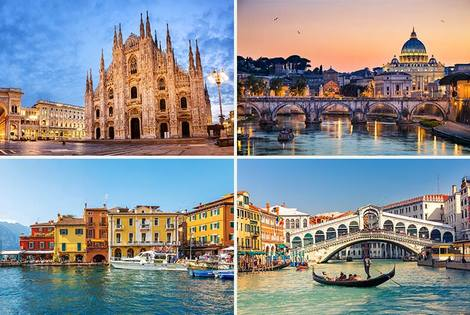 From £269pp (from Weekender Breaks) for an eight-night Venice, Rome, Lake Garda and Milan break including return flights and train transfers