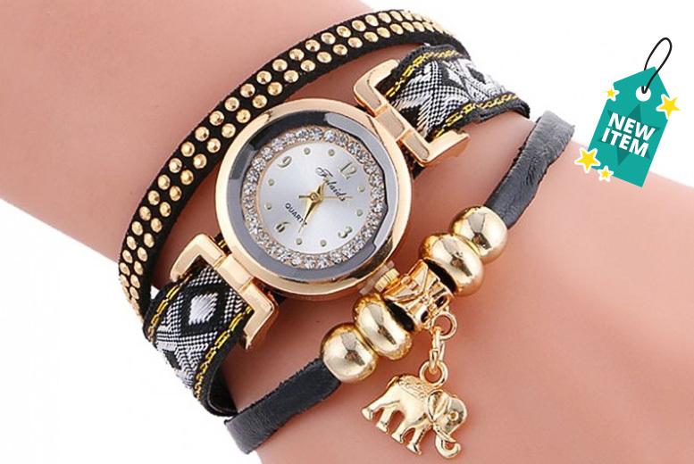 High-Polished Elephant Wrap Watch - 4 Designs!
