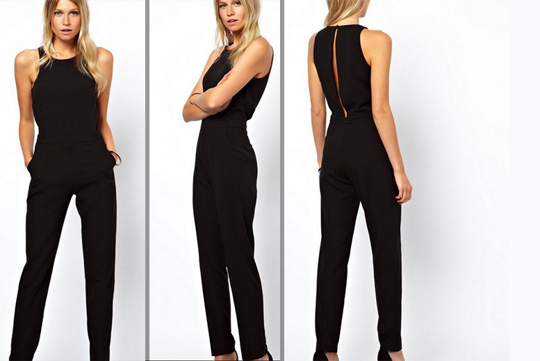 £12 instead of £54.99 (from EFMall) for a black tailored jumpsuit – save 78%