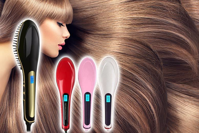 £19 instead of £79.99 (from EFMall) for a ceramic hair straightening brush - choose from four colours and save 76%
