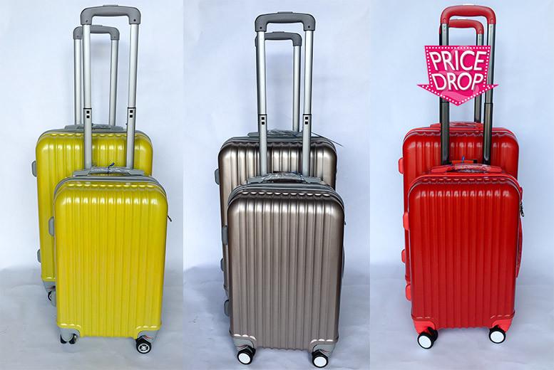 2pc hard shell luggage