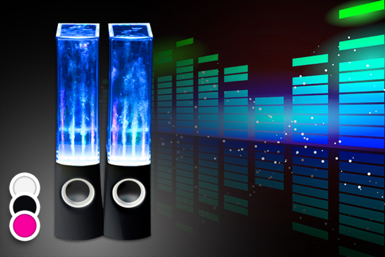2 dancing water speakers