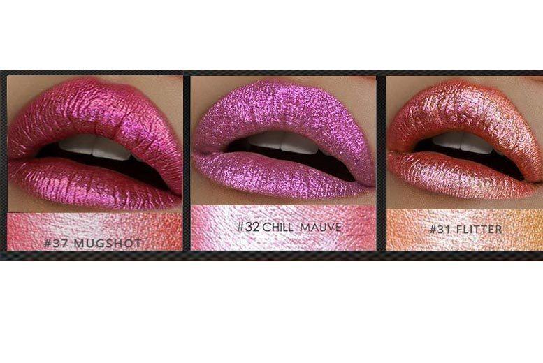 Metallic Iridescent Liquid Lipstick – 3 Shades! from £4.99