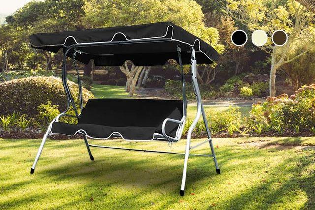 & 3-Seat Garden Swing Bench - 3 Colours!