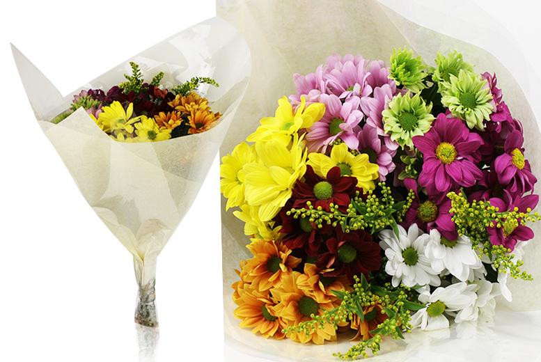 Mother's Day Chrysanthemum Flower Bouquet for £15.00