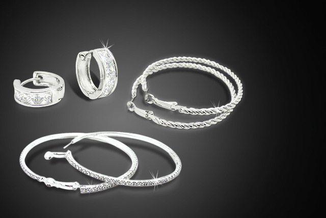 £10 (from Cian Jewels) for a pair of sml or lrg Swarovski Elements crystal hoop earrings or twist hoop earrings, all 3 for £18 - save up to 80%