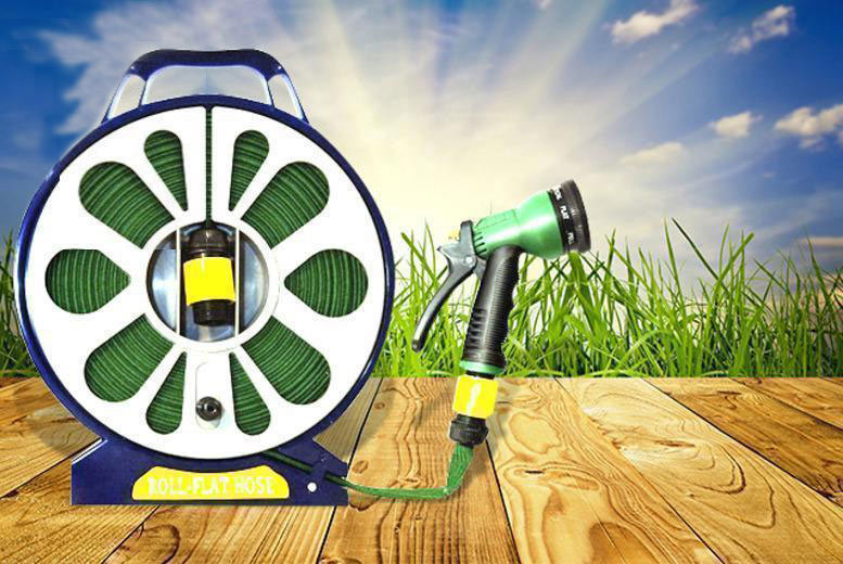 £6.98 instead of £38.99 for a 50ft lay flat garden hose with spray nozzle - save 82%