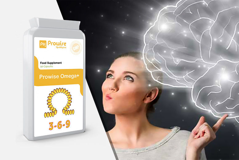 3 Month Supply of Omega+ Capsules for £9.00