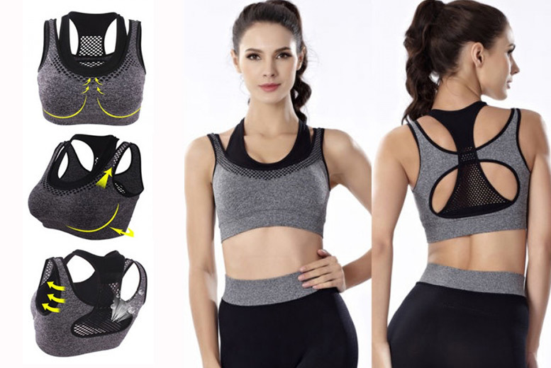 Pack of 3 Double Strap Sports Bras- 3 Colours! for £16.00