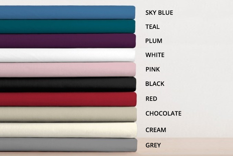 Pillowcase Pair or Fitted Sheet - 10 Colours & 5 Options!