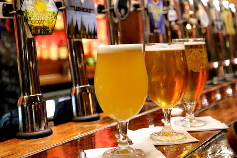 £14 instead of £30 for a four-course meal for one with craft beer and a brewery tour, £27 for two or £75 for six at Andrew Usher & Co. - save up to 53%
