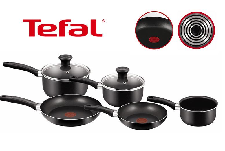 5pc Tefal Non-Stick Saucepan Set for £32.00