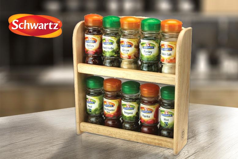 10 Schwartz™ Herbs & Spices Rack Set for £16.99