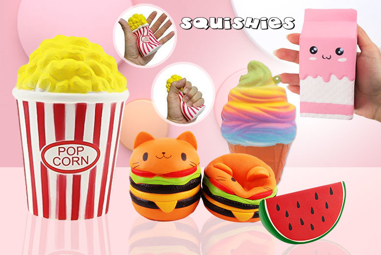 Jumbo Slow Rising Squishy Stress Reliever Toy – 5 Designs! for £4.99