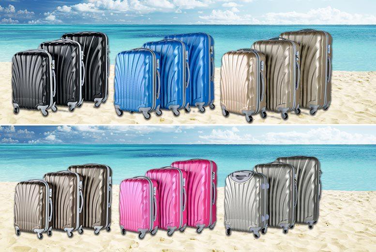 3pc hardshell luggage set