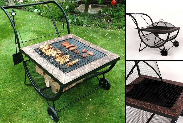 2-in-1 Outdoor Fire Pit & Barbeque for £49.00