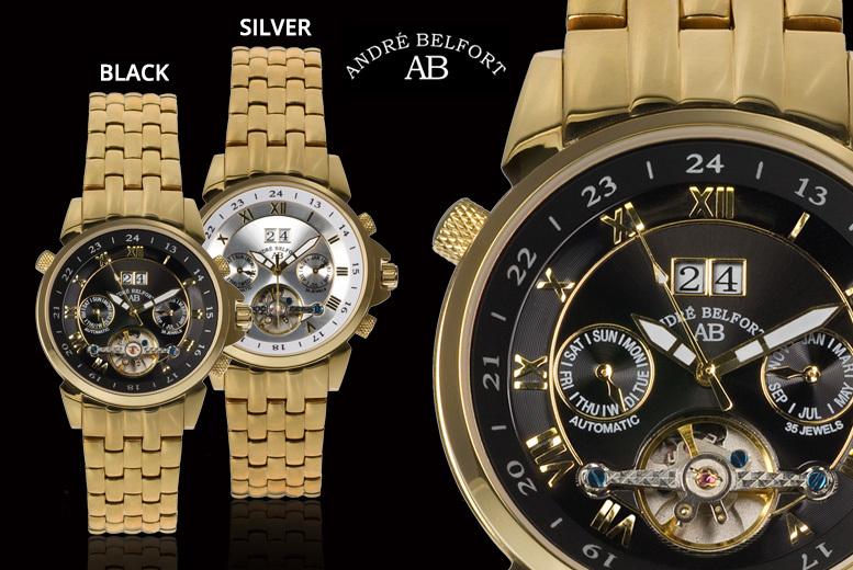 André Belfort 'Étoile Polaire' Gold Edition Watch – 2 Designs! for £179.00