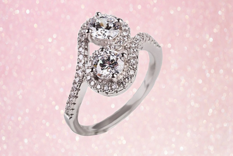Double Solitaire Halo Ring for £16.99