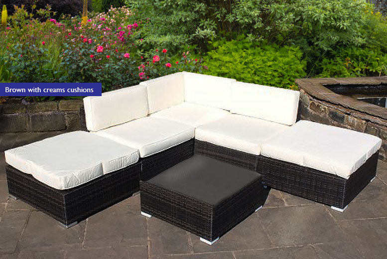 £329 instead of £969.01 (from Luxury Rattan) for a rattan corner sofa set – choose from three colours and save 66%