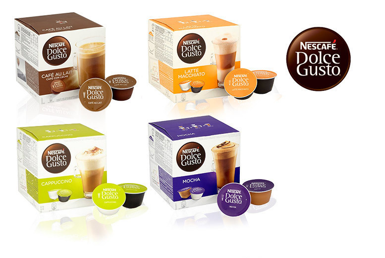 48 Dolce Gusto Pods – 4 Flavours! for £10.98