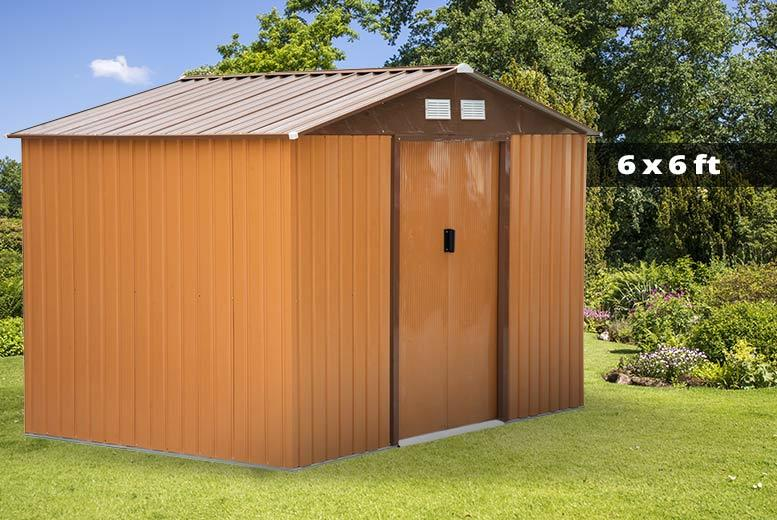 Outsunny Metal Garden Shed - 2 colours - 2 sizes!