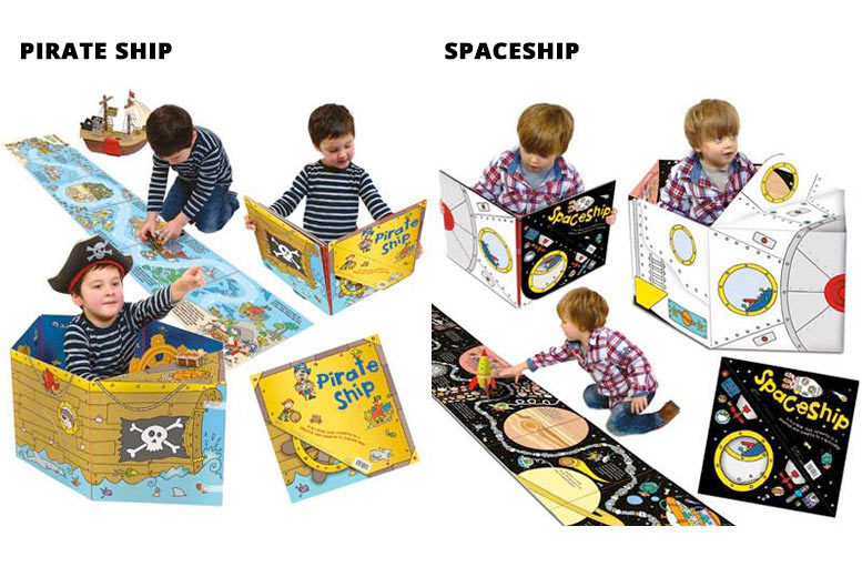Children's Convertible Pop-Up Play Book – 8 Options! for £7.99