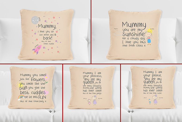 Personalised Mothers' Day Cushion - 5 Designs!