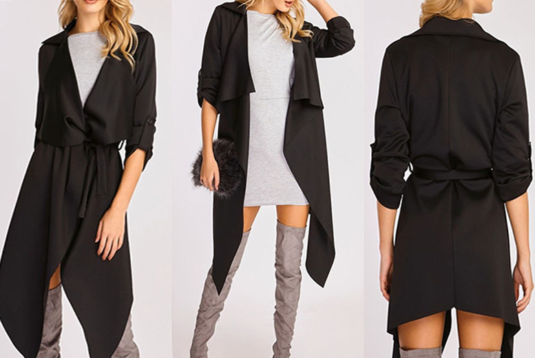 Women's Waterfall Coat – 12 Colours & Sizes 8-14! for £12.99