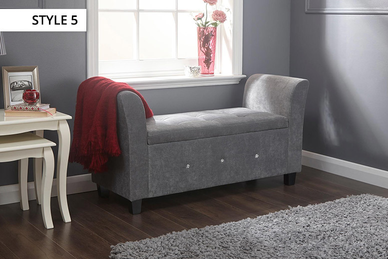 Fabric & Faux Leather Ottoman Range - 6 Colours!