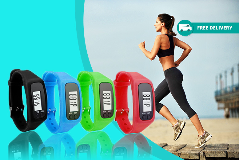 LCD Pedometer Sports Watch – 3 Designs! for £4.99