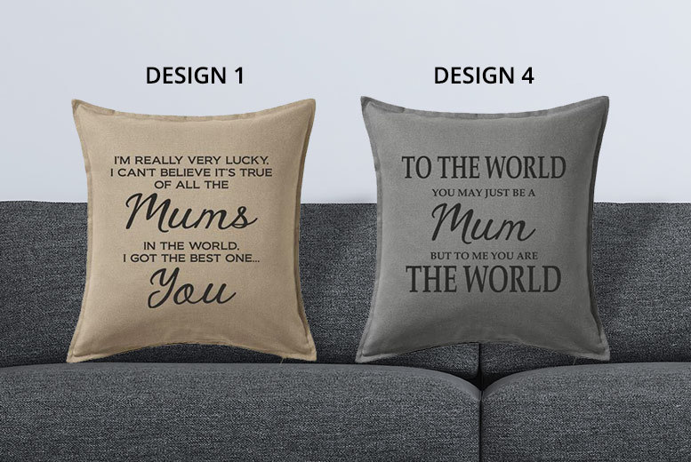 Mother's Day Cushions – 4 Designs & 3 Colours! for £9.99