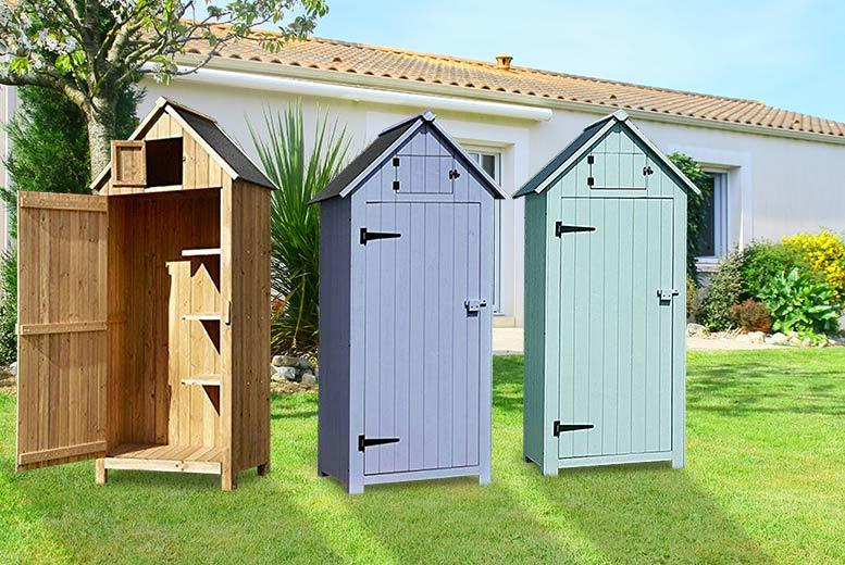 Wooden Beach Hut Style Storage Shed - 3 Colours!