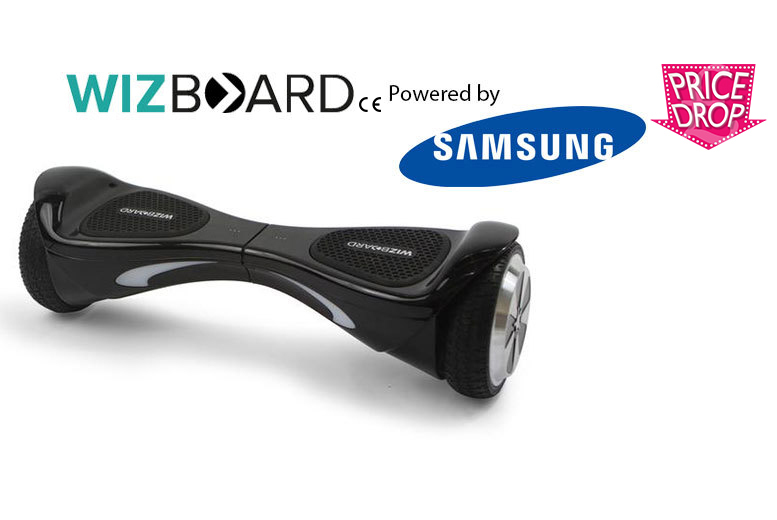 £229 instead of £599.99 for an official WizBoard hoverboard powered by Samsung - choose from four colours and save 62%