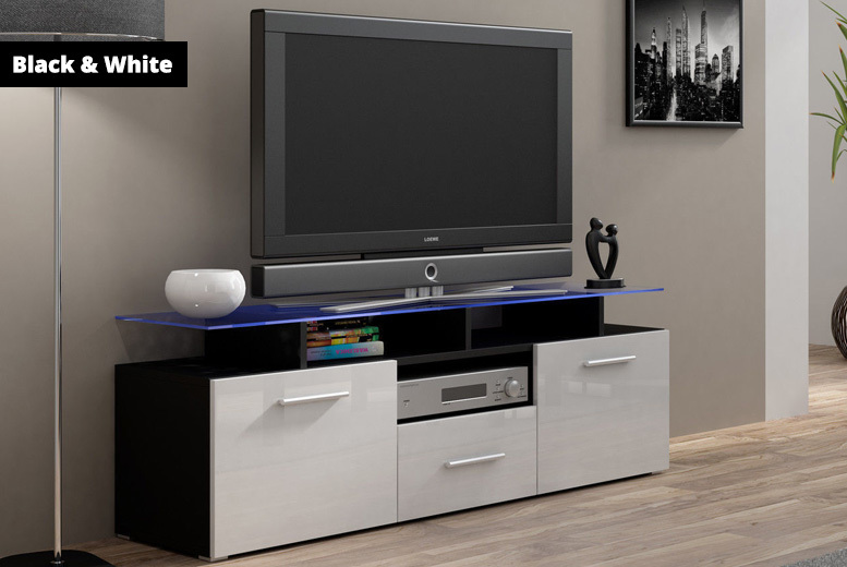 High Gloss Evora TV LED Glass Cabinet Stand - 5 Designs!
