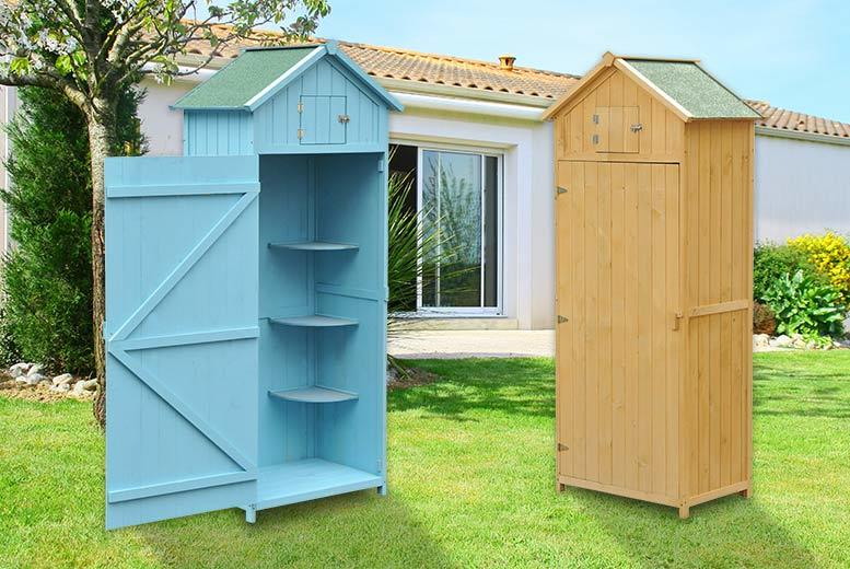 Outsunny Cupboard-Style Garden Shed - 2 Colours!