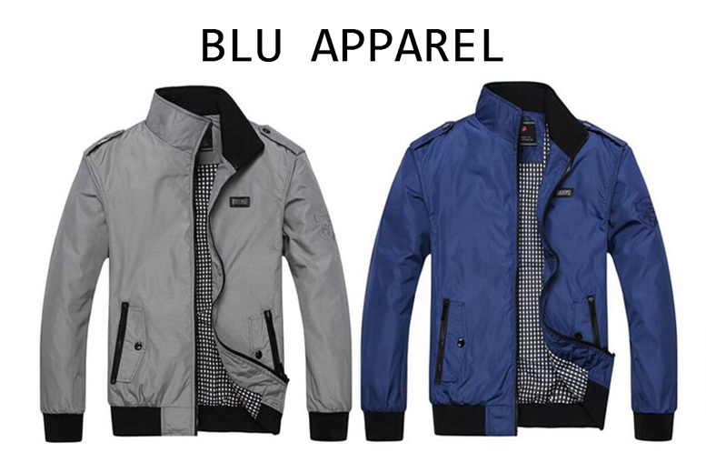 Men's Classic Harrington Jacket – 2 Colours & 6 Sizes! for £16.99