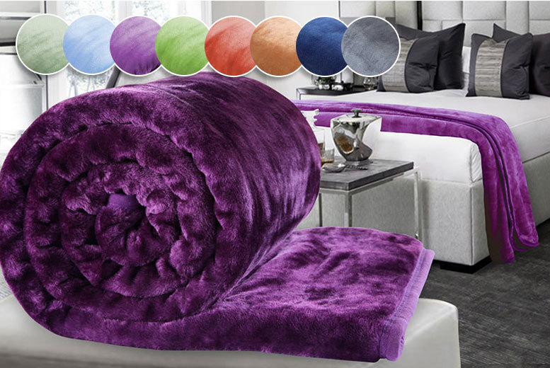 Luxury Supersoft XL Faux Mink Throw – 8 Colours! from £11.00