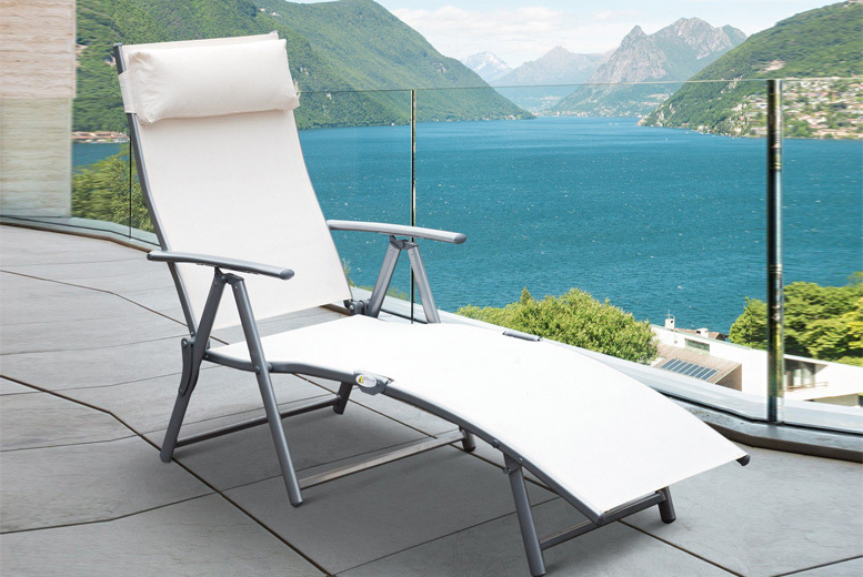 Outsunny Reclining Sun Lounger - 2 Colours!