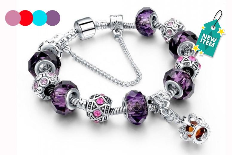 Cubic Zirconia Charm Bracelet - 4 Colours!