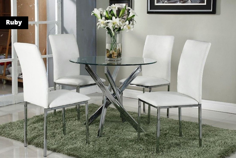 4-Seater Dining Set - 2 Styles!
