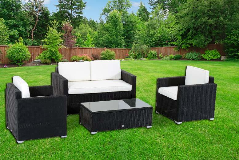 £249 instead of £899.99 (from Aosom) for a four-piece rattan furniture set - save 72%