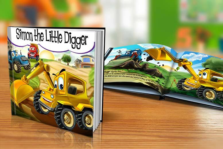 £5 instead of £14.39 (from Dinkleboo) for a softback kids' personalised storybook, £9 for a hardback book – save up to 65%